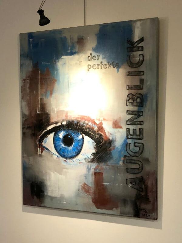 """Gemälde mit Auge """"der perfekte Augenblick"""""""