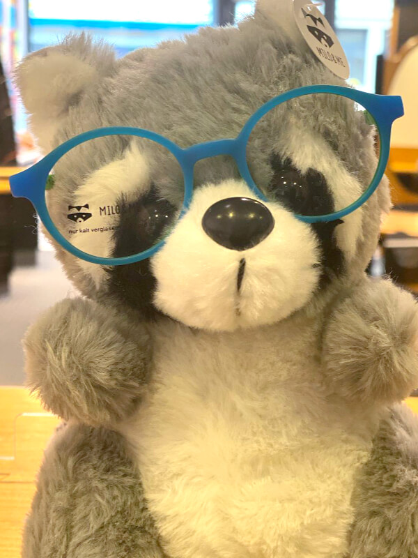 Stofftier mit Kinderbrille von Milo & Me