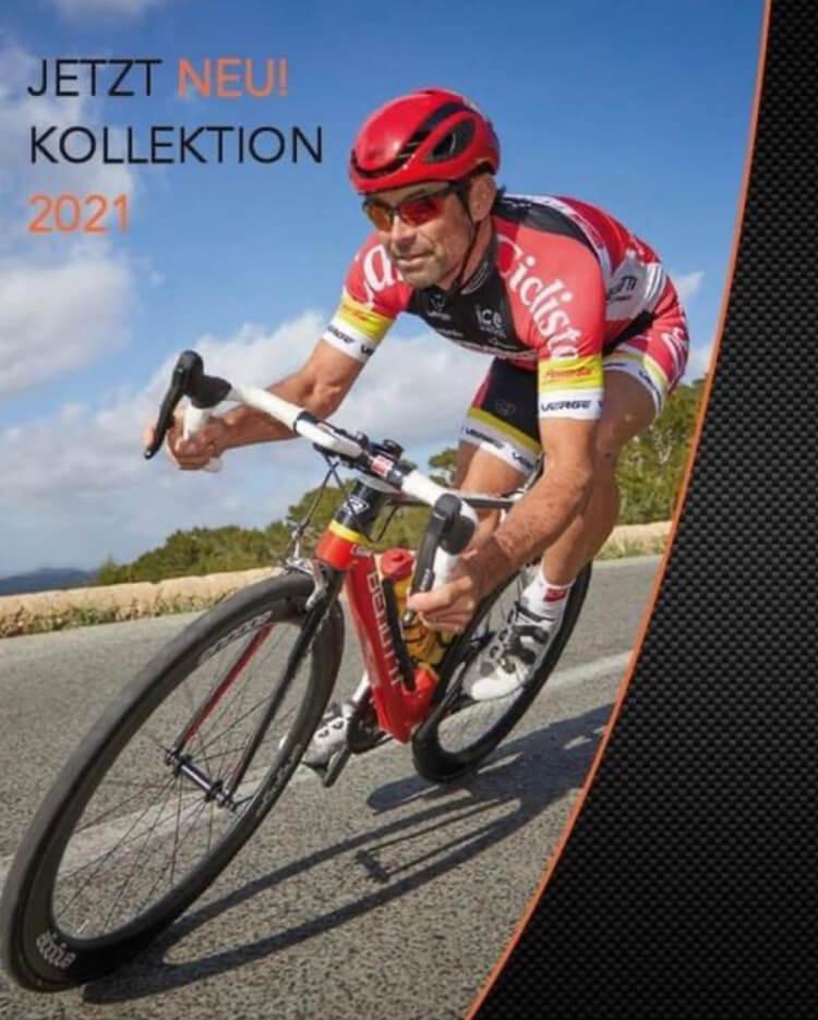 Radfahrer mit Sportbrille